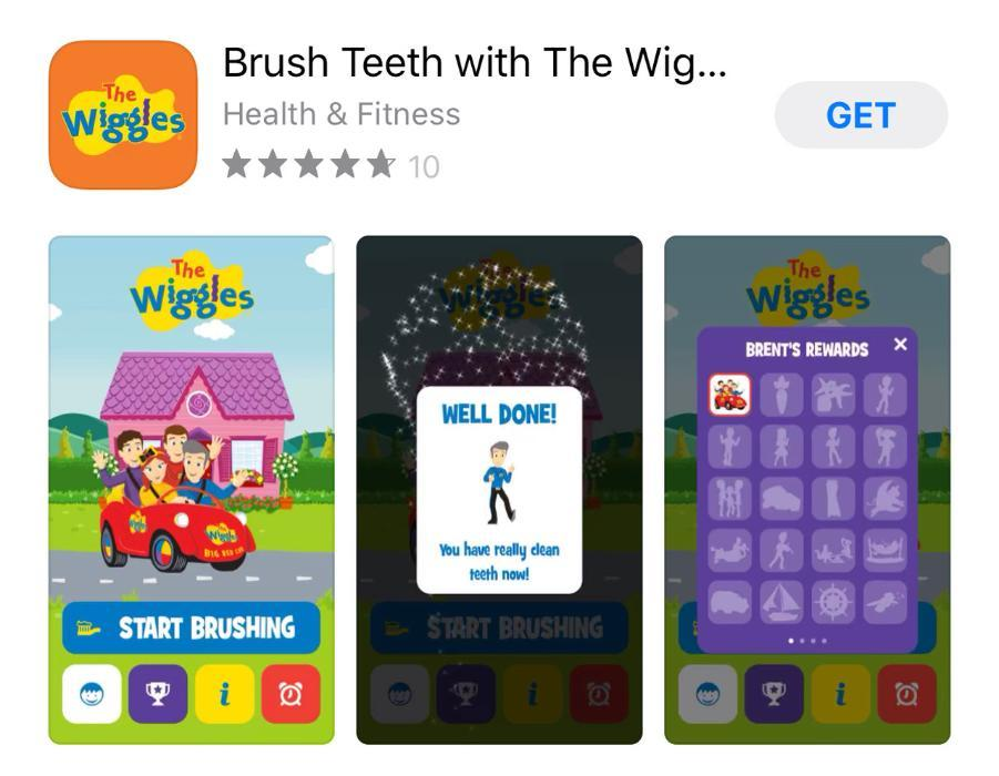wiggles tooth brushing app