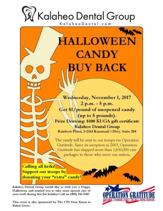 Halloween candy | Kalaheo Dental Group | Kalaheo, HI